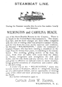 from 'A Colonial Apparition, A Story of the Cape Fear' – by James Sprunt