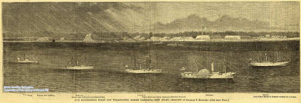 Blockading fleet of Wilmington, North Carolina - New Inlet. -- December 3, 1864, Harper's Weekly