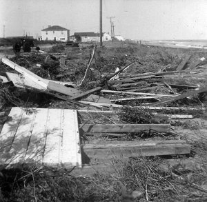 Looking north toward the Danner Home (at David Rd); south of the Kure Beach City Limits.
