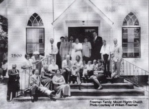Freeman Family at Mt. Pilgrim Church
