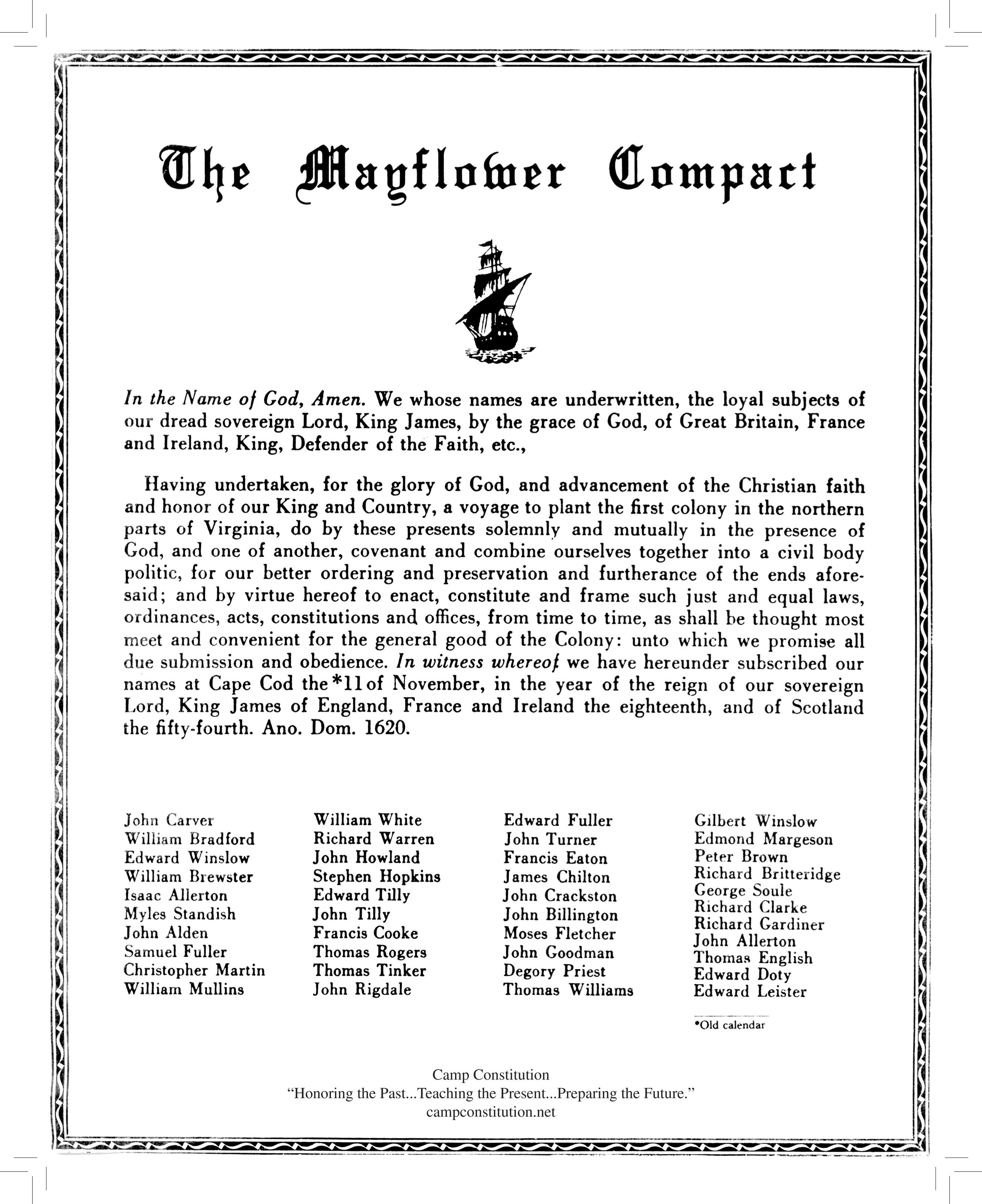 Mayflower Compact Novmber 11