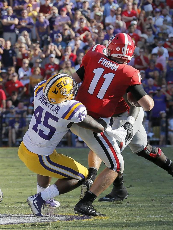 Georgia LSU Football 40185 - AP Top 25 Takeaways: Is anybody good? Contenders flail