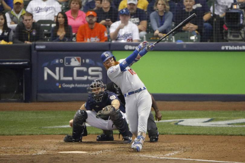 NLCS Dodgers Brewers Baseball 92082 - Turner homers as Dodgers beat Brewers 4-3 in NLCS Game 2