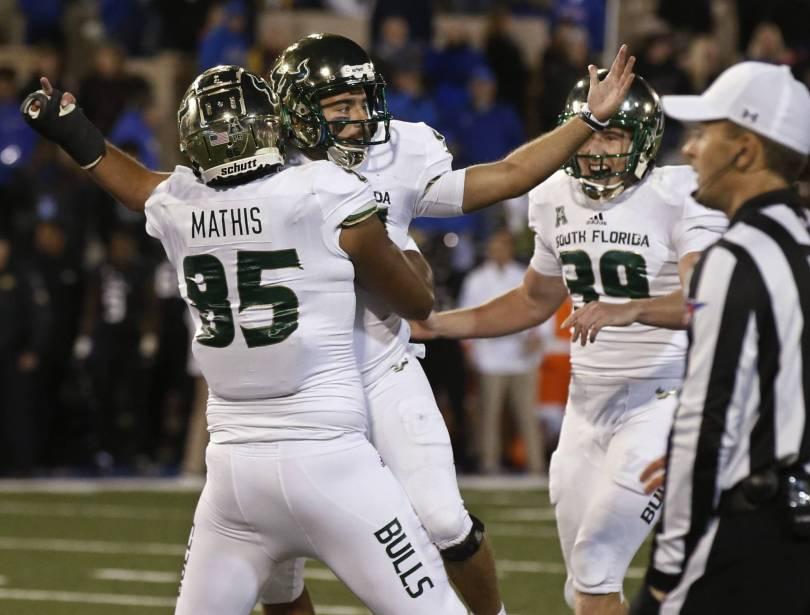 South Florida Tulsa Football 87642 - No. 23 USF rallies to beat Tulsa 25-24 to remain unbeaten
