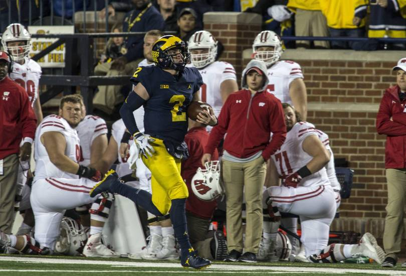 Wisconsin Michigan Football 52487 - Patterson-led No. 12 Michigan routs No. 15 Wisconsin 38-13