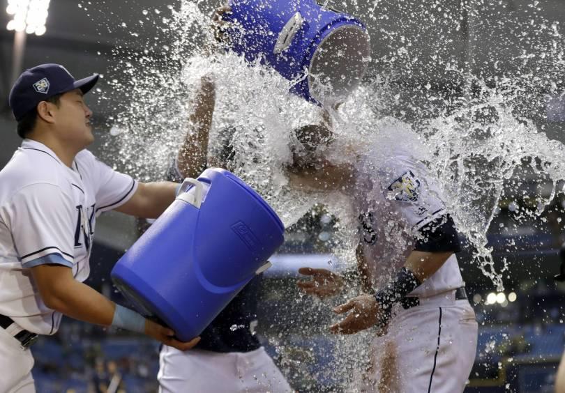 APTOPIX Athletics Rays Baseball 12040 - Bauers lifts Rays over A's, who fail to close on Yanks