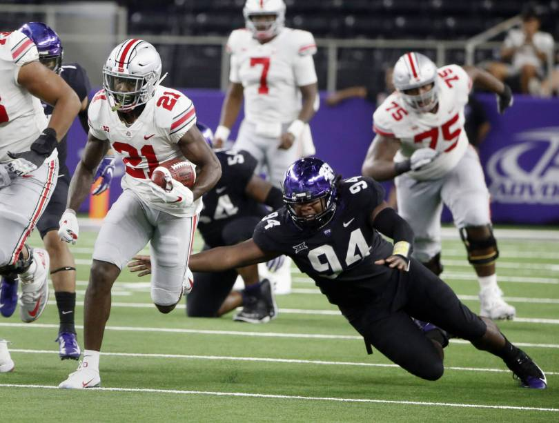 APTOPIX Ohio State TCU Football 74851 - No. 4 Ohio State holds off No. 15 TCU 40-28 after quick TDs