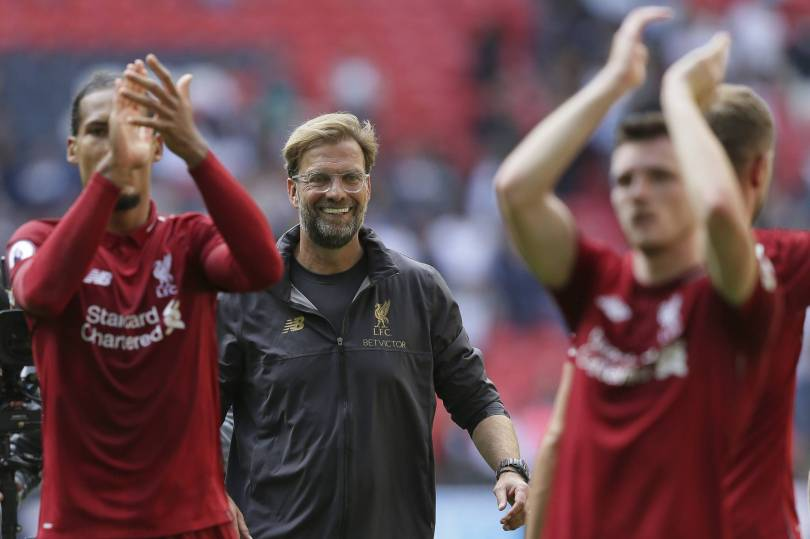 Britain Soccer Premier League 15962 - Liverpool beats Tottenham to make it 5 wins out of 5 in EPL