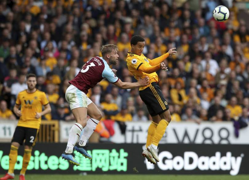 Britain Soccer Premier League 21767 - Wolves add to Burnley's Premier League troubles with 1-0 win