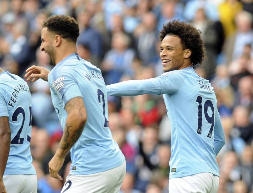 Britain Soccer Premier League 44152 - Recalled Sane sets City on way to 3-0 EPL win over Fulham
