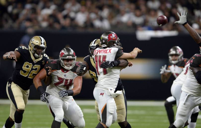 Buccaneers Saints Football 10646 - Saints' Onyemata fined $40.1K for 2 roughing passer calls