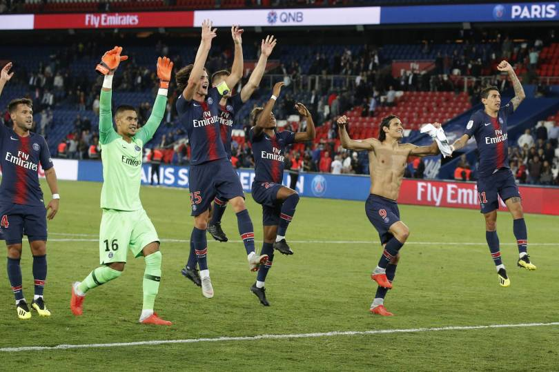 France Soccer League One 61244 - PSG prepares for Liverpool with Saint-Etienne thrashing