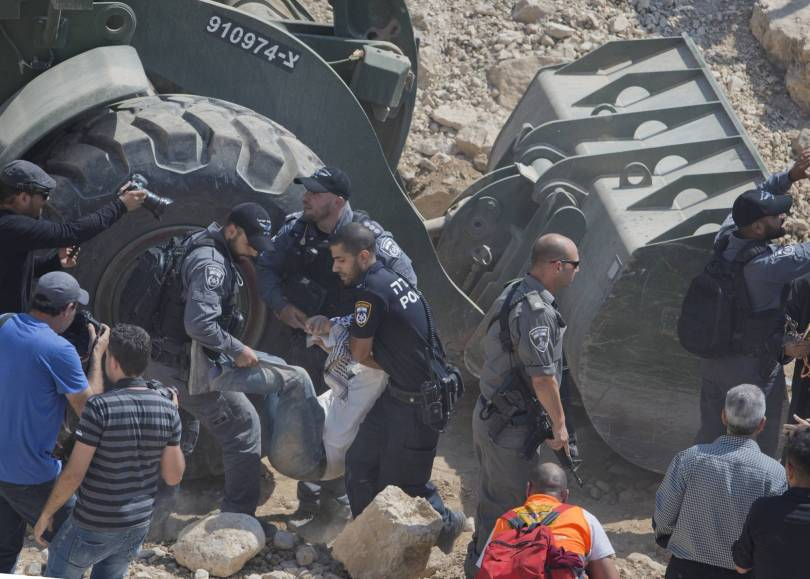 Israel Palestinians West Bank Demolitions 88496 - American professor detained by Israel in West Bank scuffle
