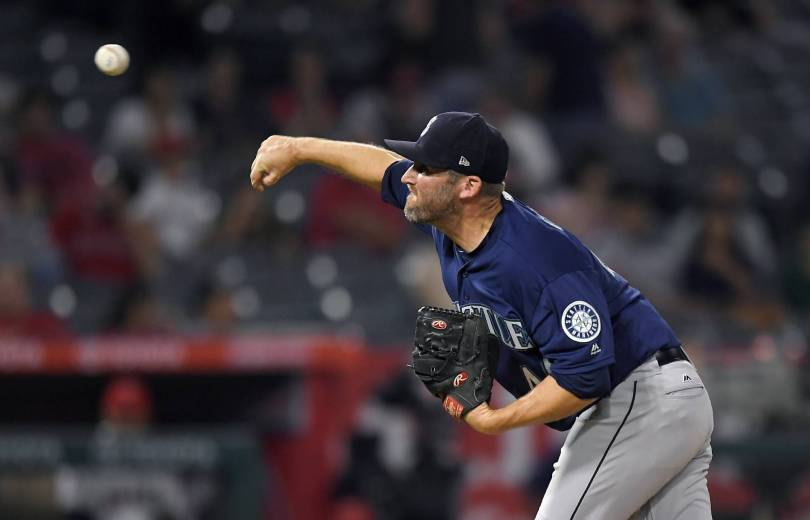 Mariners Angels Baseball 80605 - 6 Mariners relievers combine to blank Angels 5-0