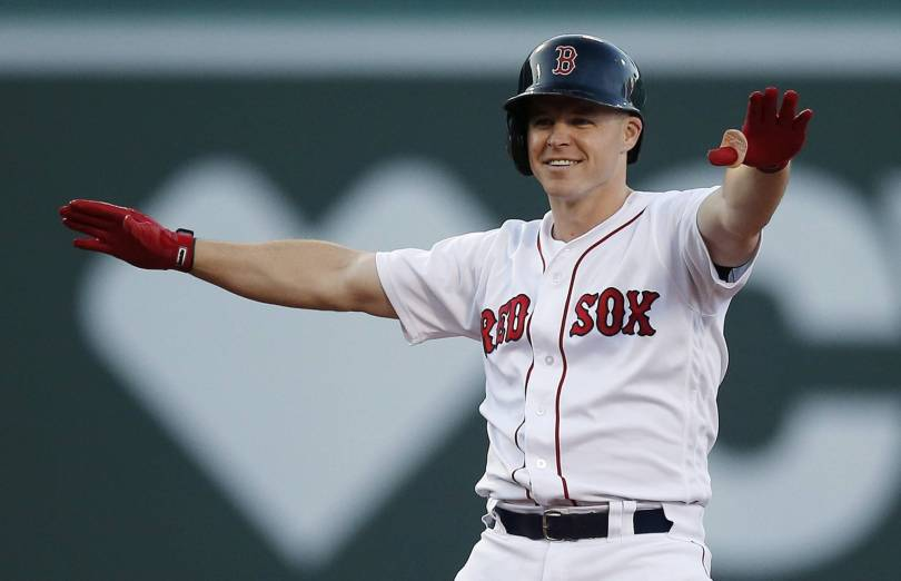 Mets Red Sox Baseball 46230 - Brock Holt's pinch double lifts Red Sox over Mets 5-3