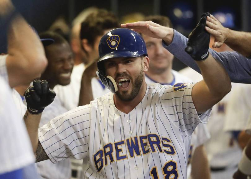 Pirates Brewers Baseball 38740 - Yelich, Shaw, Moustakas homers lead Brewers past Pirates