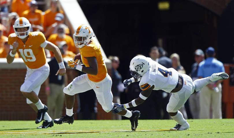 UTEP Tennessee Football 19220 - Chandler's big day helps Tennessee trounce UTEP 24-0