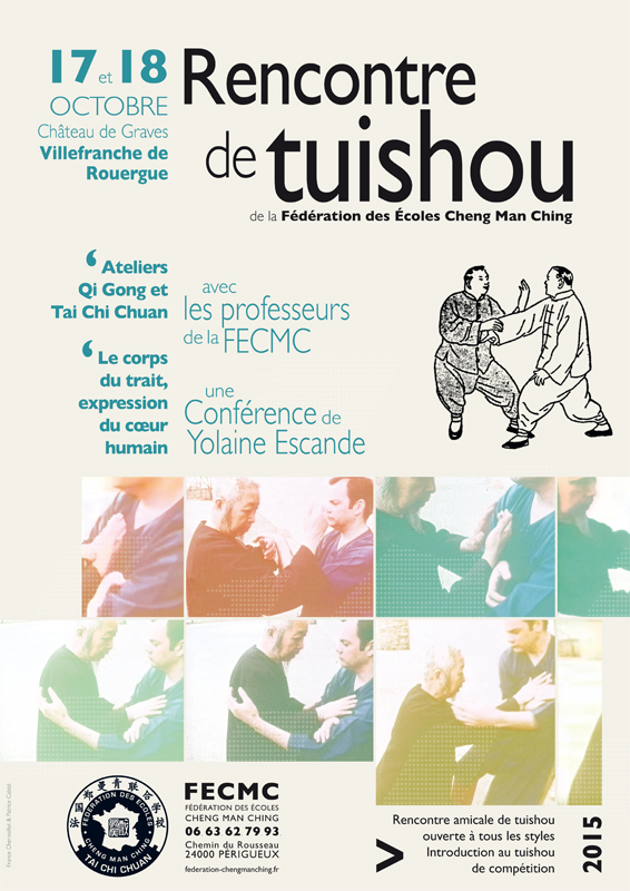Affiche rencontre tuishou FECMC 2015