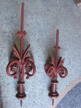 Finials small 430mm $160 incl gst. Large finial 590mm $190 incl gst