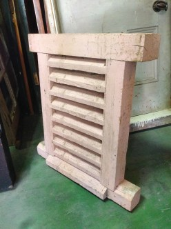 Solid timber louvre window/vent 455 x 645m salvage recycled demolition, reproduction restoration, renovation, collectable, secondhand, used, original, old, reclaimed heritage, antique restoredm $220