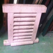 Heavy solid pine window vent h650 x w605 x d70mm $220