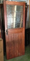 Timber door, clear ripple glass leadlight w785 x h1972mm $345