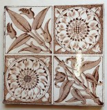 Original Victorian fireplace tiles x 3 available, good condition $28 each