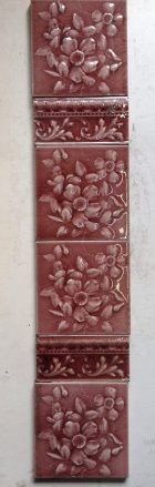 Victorian fireplace tile panel x 2, original tiles and arrangement, $250