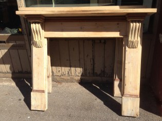 original Baltic pine mantel ok for painting 1520 top shelf $220