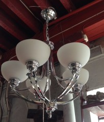 Art Deco style five arm pendant light approx. 550mm diameter $375