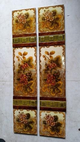Victorian fireplace tile set $245 for both panels