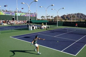 Federer practices at Indian Wells (2012)