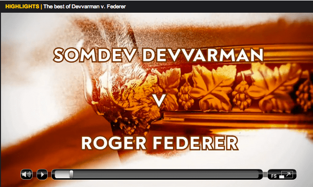 Federer vs Devvarman Roland Garros 2013 highlights