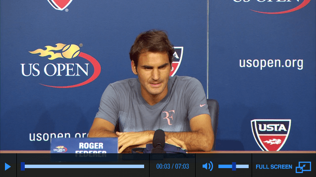 Federer media day US Open 2013 press conference