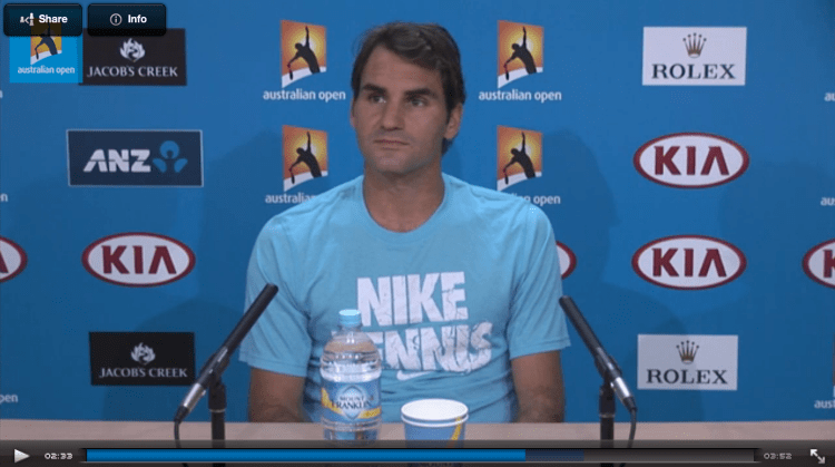 Roger Federer 2014 Australian Open 2nd Round Press Conference