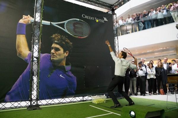 Imagine Roger Federer Visiting Work