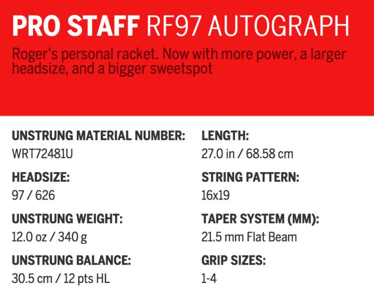 Pro Staff RF97 Autograph