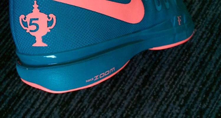 Roger Federer 2015 US Open NikeCourt Zoom Vapor 9.5 Tour LG
