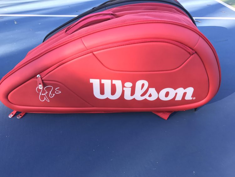 Federer DNA 12 Pack Tennis Bag - Red and Black