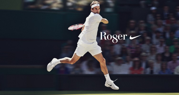 a9daa4c69ee445 Nike Celebrates Roger Federer with  Ro8er  NikeCourt T-Shirt and Special  Shoes