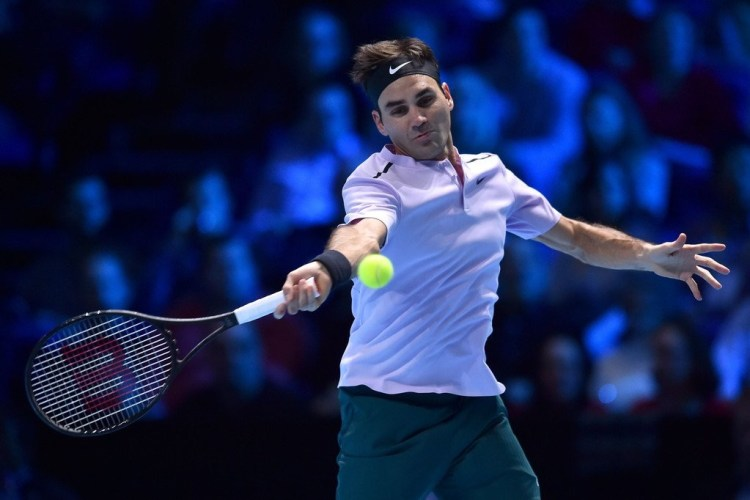 Roger Federer 2017 Nitto ATP Finals - Goffin Upsets Federer at ATP Finals