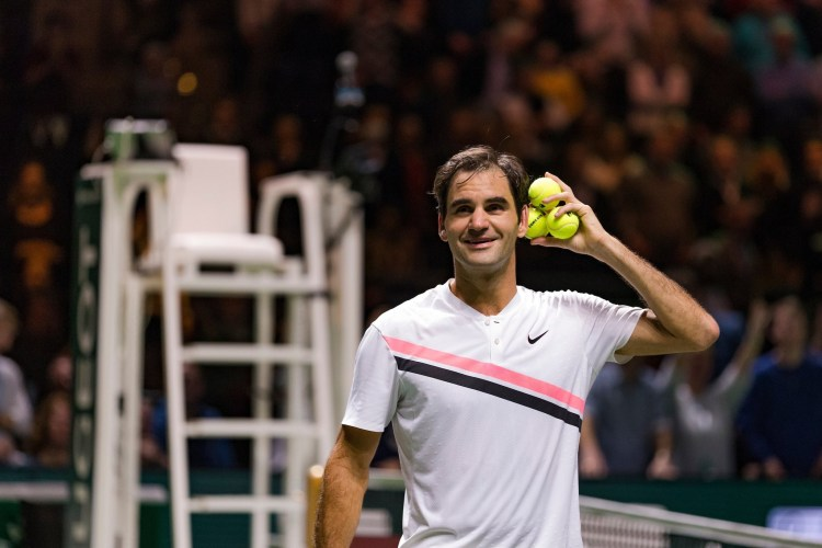 Roger Federer 2018 Rotterdam Open - ABN AMRO World Tennis Tournament - Federer Tops Seppi to Reach Rotterdam Final