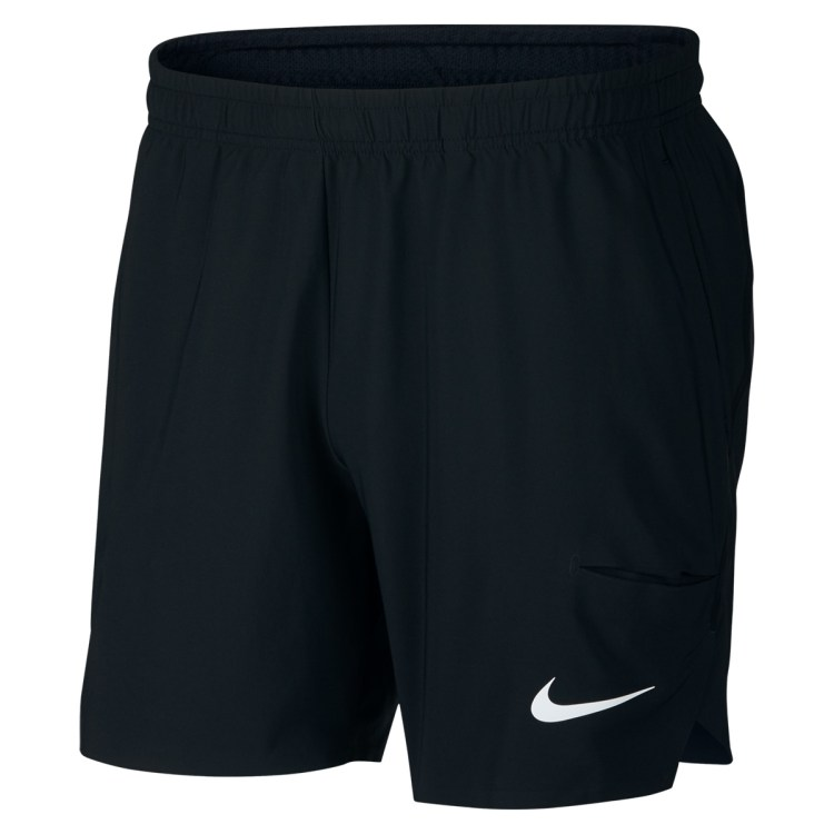 Roger Federer 2018 BNP Paribas Open Indian Wells Short Black - Roger Federer 2018 Indian Wells Nike Outfit