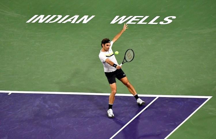 Roger Federer 2018 BNP Paribas Open (Indian Wells BNPPO18) - Federer Defeats Chung to Reach BNP Paribas Open Semifinals