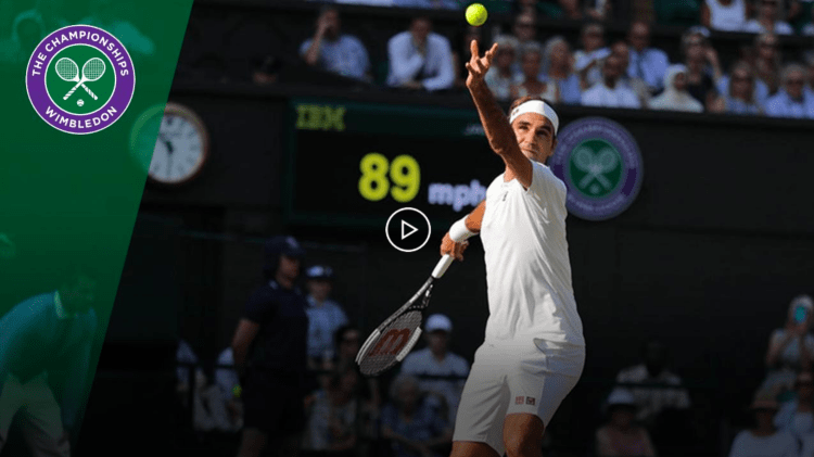Federer Moves Past Stuff into Wimbledon Fourth Round
