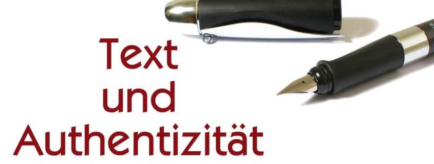 Text und Authentizität