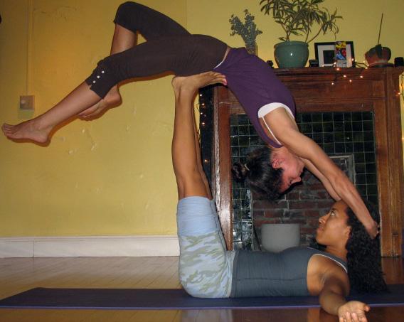 Aerial back bend pose