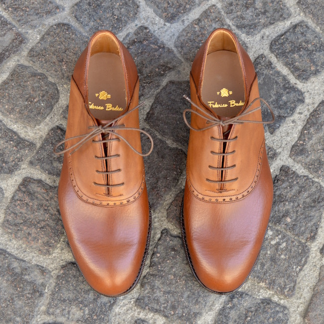 Aged Tan Color Shoes Saddle Leather
