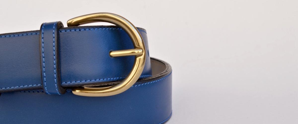 Thin Cobalt Dress Belt