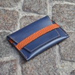 Blue & Tan Umbria Card Case, Front